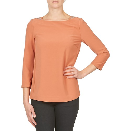 material Women Long sleeved shirts Color Block 3214723 Coral