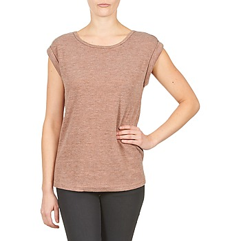 material Women short-sleeved t-shirts Color Block 3203417 Old / Pink / Mottled / Grey