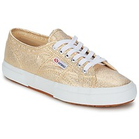 Shoes Women Low top trainers Superga 2751 LAMEW Gold