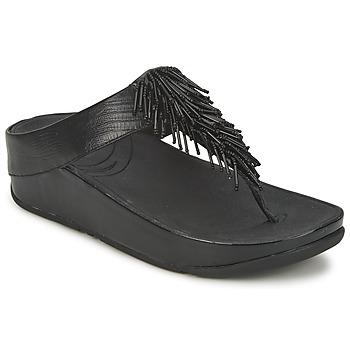 Shoes Women Flip flops FitFlop CHACHA Black