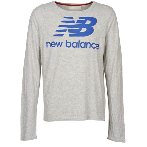 material Men Long sleeved shirts New Balance NBSS1403 LONG SLEEVE TEE Grey