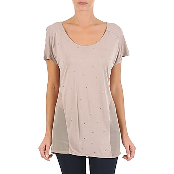 material Women short-sleeved t-shirts La City MC BEIGE Beige