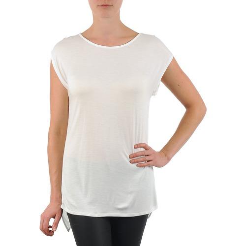 material Women short-sleeved t-shirts La City TS CROIS D6 White