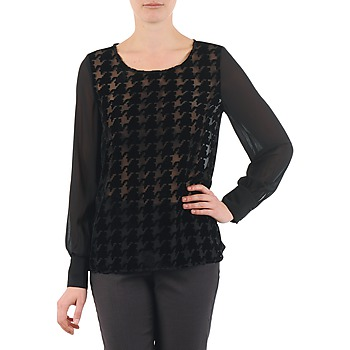 material Women Blouses La City ML FLOCK P Black