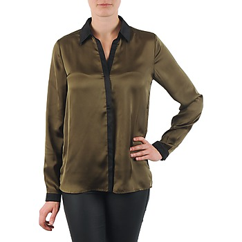 material Women Shirts La City O CHEM PATTE Kaki / Black