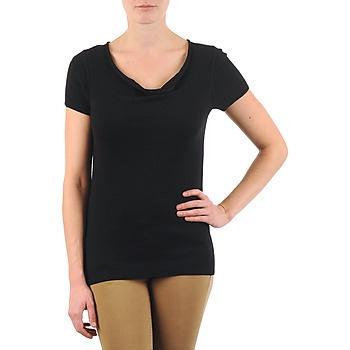 material Women short-sleeved t-shirts La City PULL COL BEB Black