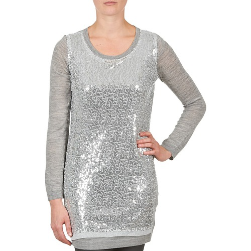 material Women Tunics La City PULL SEQUINS Grey