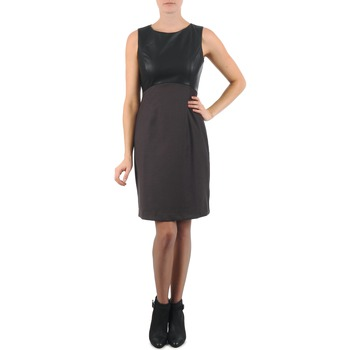 material Women Short Dresses La City RTANIA Black / Grey