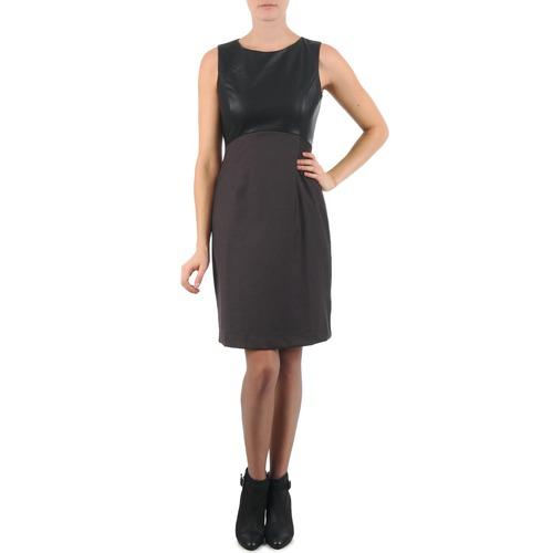 material Women Short Dresses La City RTANIA Black / Grey