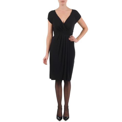 material Women Short Dresses La City ROBE3D1B Black