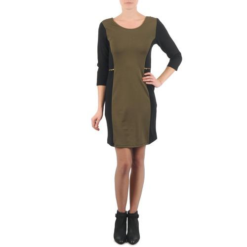 material Women Short Dresses La City ROKAMIL Kaki / Black