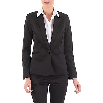 material Women Jackets / Blazers La City VBASIC Black