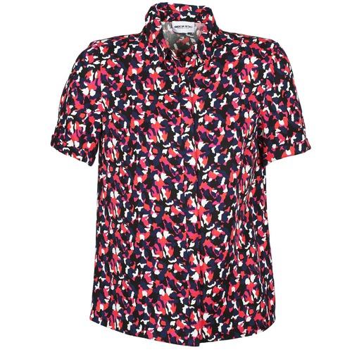 material Women short-sleeved shirts American Retro NEOSHIRT Black / Pink / Orange