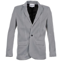 material Women Jackets / Blazers American Retro JACKYLO White / Black