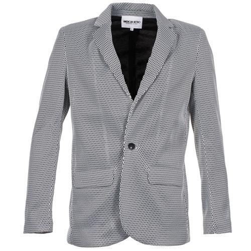 Jackets American Retro JACKYLO White / Black 350x350
