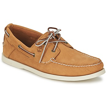 Shoes Men Boat shoes Timberland EK HERITAGE BOAT 2 EYE BEIGE