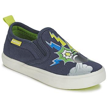 Shoes Boy Slip ons Geox KIWI B. D Blue / Green