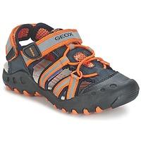 Shoes Boy Sports sandals Geox SAND.KYLE C MARINE / Orange