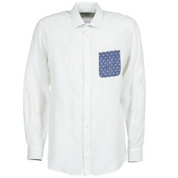 material Men long-sleeved shirts Serge Blanco CHACA White