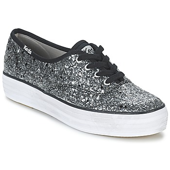 Shoes Women Low top trainers Keds TRIPLE GLITTER Silver