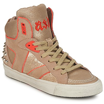 Shoes Women High top trainers Ash SPIRIT BEIGE / GOLD / Orange