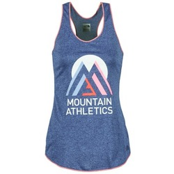 material Women Tops / Sleeveless T-shirts The North Face GRAPHIC PLAY HARD Blue