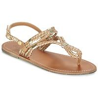 Shoes Women Sandals Pepe jeans JANE WOVEN METALLIC Brown