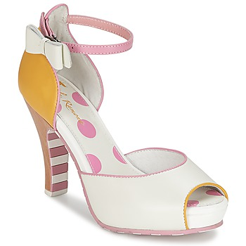Shoes Women Sandals Lola Ramona ANGIE Pink / White