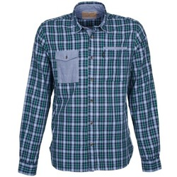 material Men long-sleeved shirts Chevignon CL NAVY DOUBLE Green
