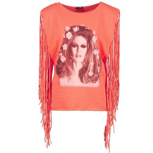 material Women Tops / Sleeveless T-shirts Brigitte Bardot BB44075 Coral