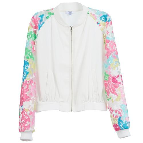 material Women Jackets Brigitte Bardot BB44045 White / Multicoloured