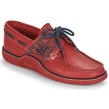 Shoes Men Boat shoes TBS GLOBEK Red / Blue