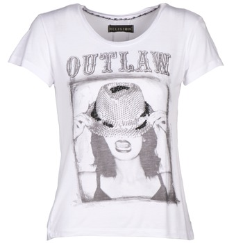 material Women short-sleeved t-shirts Religion B123OLT45 White