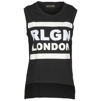 material Women Tops / Sleeveless T-shirts Religion B123RGT41 Black