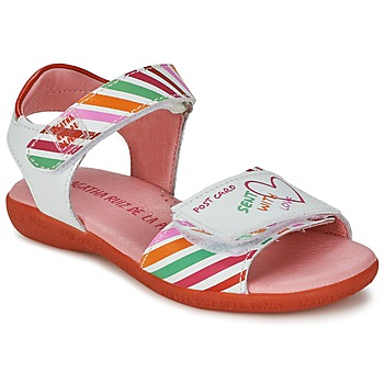 Shoes Girl Sandals Agatha Ruiz de la Prada CAZOLETA White / Multicoloured