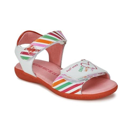 Sandals Agatha Ruiz de la Prada CAZOLETA White / Multicoloured 350x350