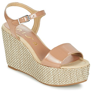 Shoes Women Sandals Unisa LITUAN Beige / Pink