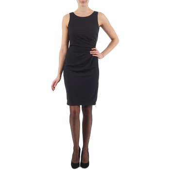 material Women Short Dresses Esprit BEVERLY CREPE Black