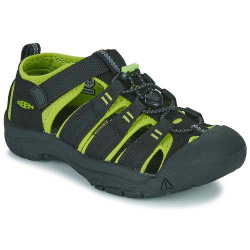 Shoes Boy Sports sandals Keen KIDS NEWPORT H2 Black / Green