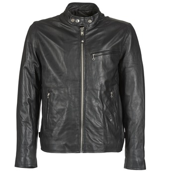 material Men Leather jackets / Imitation leather Schott BLODOU Black
