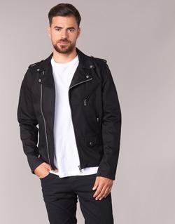 material Men Denim jackets Schott JOHN Black