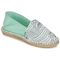 Shoes Women Espadrilles 1789 Cala CLASSIQUE IMPRIMEE Water / White