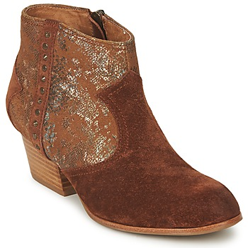 Shoes Women Ankle boots Schmoove WHISPER VEGAS Brown / Glitter