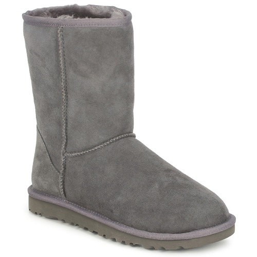 ab90e4a46fa2 UGG CLASSIC SHORT Grey - Fast delivery with Spartoo Europe ! - Shoes ...
