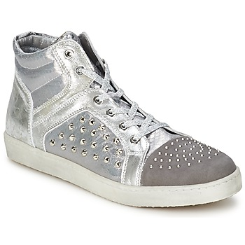 Shoes Women High top trainers Hip 90CR Silver croco