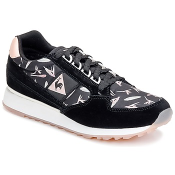 Shoes Women Low top trainers Le Coq Sportif ECLAT WOMAN BIRD OF PARADISE Black / Pink