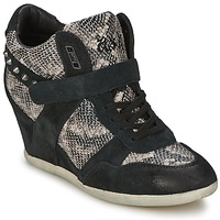Shoes Women High top trainers Ash BISOU Black / Python