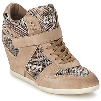 Shoes Women High top trainers Ash BISOU Taupe / Python