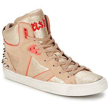 Shoes Women High top trainers Ash SPIRIT Beige / Pink