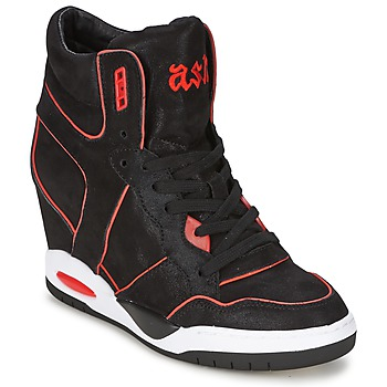 Shoes Women High top trainers Ash BEST Black / Coral